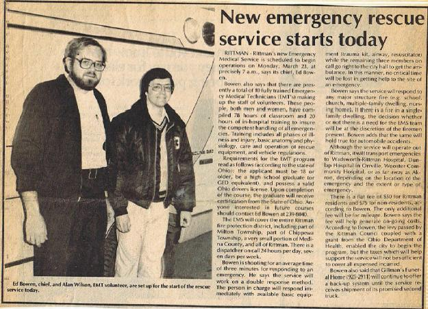 Ed Bowen and Alan Wilson Newspaper Article