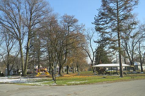 Picnic Shelter and Playground at Central Park